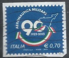 ITALIA REPUBBLICA ITALY REPUBLIC 2013 LE ISTITUZIONI AERONAUTICA MILITARE AREONAUTICA € 0,70 USATO USED OBLITERE' - 6. 1946-.. Repubblica