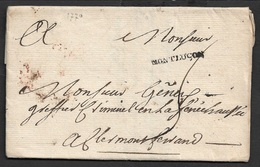1770 - LAC - MONTLUÇON 25mm X 2mm (Auvergne-Rhône-Alpes).  Ind. 11 - Marcophilie (Lettres)