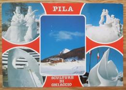 GRESSAN PILA - Val D'Aosta - Sculture Di Ghiaccio - Ice Sculptures - Vg - Italia