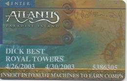 Carte De Membre Casino : Bahamas Atlantis Paradise Island - Cartes De Casino