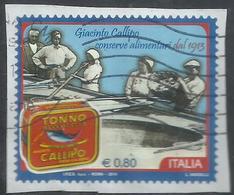 ITALIA REPUBBLICA ITALY REPUBLIC 2014 LE ECCELLENZE DEL SISTEMA PRODUTTIVO IL TONNO CALIPPO € 0,70 USATO USED OBLITERE' - 6. 1946-.. Repubblica