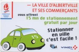 Carte De Stationnement Sur Horodateurs : Ville D'Albertville : Logo Jeux Olympiades 1992 - France