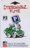 Carte De Stationnement Sur Horodateurs : Ville D'Angers - France