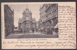 BRUSSEL. TEMPLE DES AUGUSTINS SUR LA PLACE DE BROUKÈRE - Avenues, Boulevards