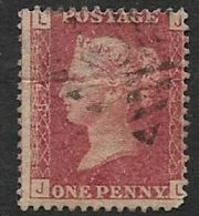 Great Britain, Queen Victoria, 1d Red, Perforated, SG 43 / 44 Plate  187 Used - Unused Stamps