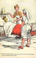 -ref-B183-  Militaria - Humoristiques  - Barometre Au Lieu Du Thermometre ..- Infirmieres - Hopital - Hopitaux - Santé - - Humoristiques