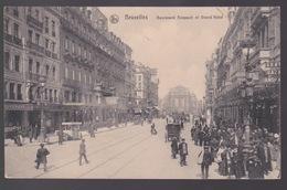 BRUSSEL.  BOULEVARD ANSPACH ET GRAND HOTEL - Avenues, Boulevards