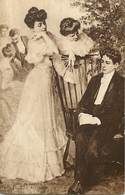 -ref-B182- Arts - Tableaux - Tableau - Salon De Paris 1906-  Peintre Faugeran - Un Debut - Couples - Eventail - - Peintures & Tableaux