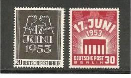 BlnMi.Nr.110-11**/ BERLIN -  1953, 17. Juni, Aufstand - Ongebruikt