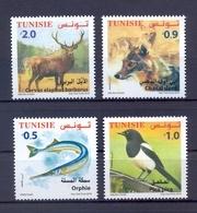 Tunisie/Tunisia 2018 -Timbres 4v - Faune Terrestre Et Maritime De Tunisie - Nouvelle émission - MNH** - Tunisie (1956-...)