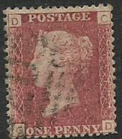 Great Britain, Queen Victoria, 1d Red, Perforated, SG 43 / 44 Plate  123 Used - Unused Stamps