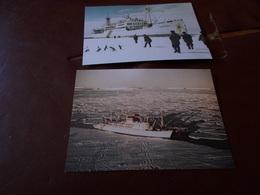 B707  2 Cartoline Navi Antarctica Udssr Non Viaggiate - Barche