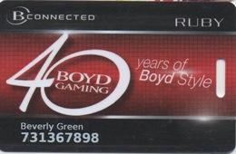 Boyd Gaming 40e Anniversaire B Connected Catégorie Ruby - Cartes De Casino
