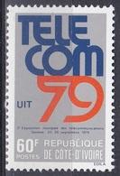 Elfenbeinküste Ivory Coast Cote D'Ivoire 1979 Kommunikation Communication Fernmeldetechnik Telecom Genf, Mi. 612 ** - Côte D'Ivoire (1960-...)