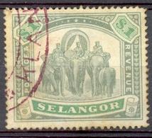 Selangor - 1895 - Yt 20 - Série Courante - Oblitéré - Selangor