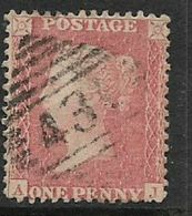 Great Britain, Queen Victoria, 1861,1d Rose- Red, Perforated, SG 42  Used - Unused Stamps