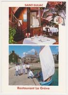 26564 Saint - Suliac Restaurant De La Greve - Louedec Voeux 1994 -eliophoto -bateau Pecheur Barque Voilier - Saint-Suliac