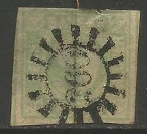 Bavaria - 1850-8 Numeral 9k Yellowish-green Used    SG 15 - Bavaria