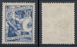 Jugoslavija Yugoslavia 1951 Mi 684 A  YT 595 Sc 350 SG 712 * MH - Girl Printer / Mädchen Drucker / Imprimante Fille - Fabrieken En Industrieën