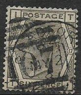 Great Britain, Queen Victoria, 1881 6d Grey, Sg 161, Plate 17 Used BRADFORD MY 2 81 + DUPLEX Bonc 107 - 1840-1901 (Victoria)