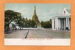 Rangoon Myanmar Burma 1900 Postcard - Myanmar (Burma)