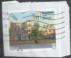 ITALIA REPUBBLICA ITALY REPUBLIC 2018 PALERMO CAPITALE ITALIANA DELLA CULTURA B USATO USED OBLITERE' - 6. 1946-.. Repubblica