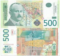 SERBIA  500 DINARA  2012. UNC AA Prefix Low Serial Number - Serbie