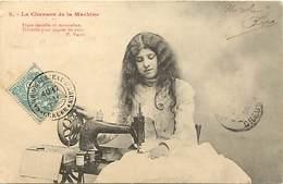 -ref-B179- Metiers - Couture - Couturiere - Couturieres - Chanson De La Machine A Coudre N°5 - Machines - A Coudre - - Artisanat