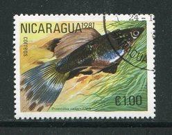 NICARAGUA- Y&T N°1160B- Oblitéré (poisson) - Nicaragua