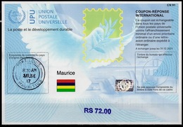 MAURICE MAURITIUS  Is41B  RS 72.00  20170802 AA Int. Reply Coupon Reponse Antwortschein IAS IRC Hologram O PORT LOUIS - Mauritius (1968-...)