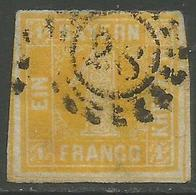 Bavaria - 1850-8 Numeral 1k Yellow Used    SG 21 - Beieren