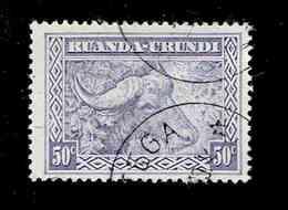 RUANDA URUNDI.(COB-OBP)  1931 - N°96  *SCENES INDIGENES, ANIMAUX ET PAYSAGES*    50c  Oblitéré - Ruanda-Urundi