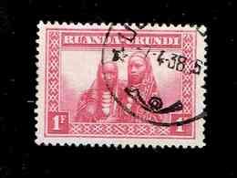 RUANDA URUNDI.(COB-OBP)  1931 - N°99  *SCENES INDIGENES, ANIMAUX ET PAYSAGES*    1 F  Oblitéré - Ruanda-Urundi