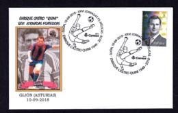 2.- ESPAÑA 2018 MATASELLO ESPECIAL - ENRIQUE CASTRO QUINI - GIJON ASTURIAS - 1931-Hoy: 2ª República - ... Juan Carlos I