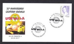 5.- ITALY 2017 SPECIAL POSTMARK FOOTS ICE CREAM - TRIESTE - Alimentación