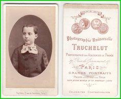 CDV Photografie: Trucuelut, Paris - Portrait Halbwüchiger Knabe Garçon Teenage Boy  #0177 - Photographs