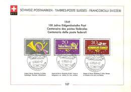 Schweiz Suisse 1949: Zu 291-293 Mi 519-521 Yv 471-473 PTT-Sammelblatt Nr. 107  Mit O BÜRGENSTOCK 6.VII.49 - Suisse