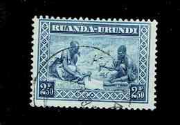 RUANDA URUNDI.(COB-OBP)  1937 - N°113  *SCENES INDIGENES, ANIMAUX ET PAYSAGES*    2,50F  Oblitéré - 1924-44: Used