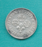 Mauritius - 1938 - George VI - ¼ Rupee - KM18 - Maurice