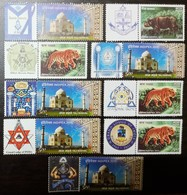 Freemasonry, Compass, Masonic Symbol, Personalize Stamp MNH Set Of 9 - Freemasonry