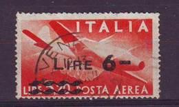 Repubblica Italiana, 1947 - 6 Lire Su 3,20 Posta Aerea Democratica, Fil. Lettera - Nr.A135 Usato° - 6. 1946-.. Repubblica