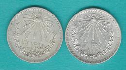 Mexico - 1 Peso - 1919 (KM454) & 1922 (KM455) - Mexique