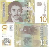 Serbia 10 Dinara 2006. UNC AE Prefix - Serbie