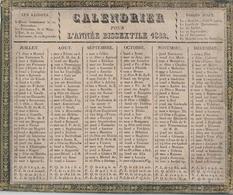 VAUCLUSE - APT - CALENDRIER DE 1832 - JOURS DES FOIRES D'APT - RARE - FORMAT 230x195. - Calendriers