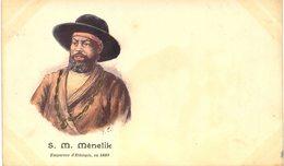 Carte  Postale  Ancienne De  S.M. MENELIK, Empereur En 1889 - Ethiopie