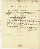 BELGIQUE BRUGES 1835 LETTRE De C.de Moos Bruges Pour Dessain Libraire Imprimeur à Liège B.E.V.SCANS+HISTORIQUE - France