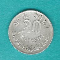 Mexico - 20 Centavos - 1900 - Mo M - KM405.2 - Mexico