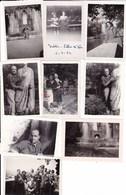 TIVOLI - ROMA - LOTTO DI 9 FOTO DEGLI ANNI 1951-52 CON DIDASCALIA - Lieux