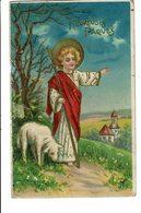 CPA - Carte Postale - Belgique -Fantaisie- Heureuses Pâques Avec Un Berger-1910 S4755 - Pâques