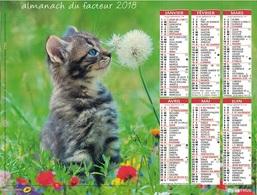 VAUCLUSE - CALENDRIER DE 2018 - ILLUSTRATIONS PETITS CHATS. - Calendarios